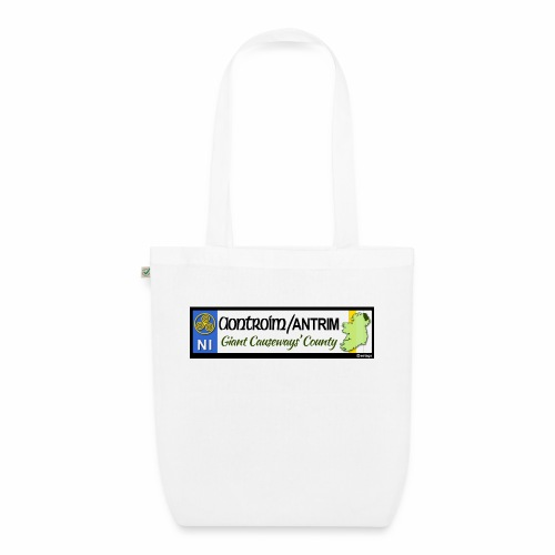 CO. ANTRIM, NORTHERN IRELAND licence plate tags - EarthPositive Tote Bag