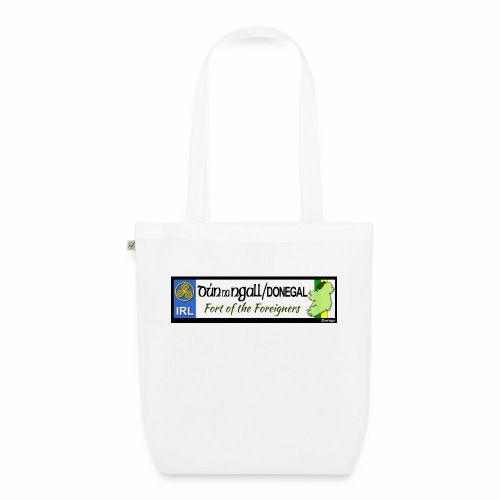 DONEGAL, IRELAND: licence plate tag style decal - EarthPositive Tote Bag