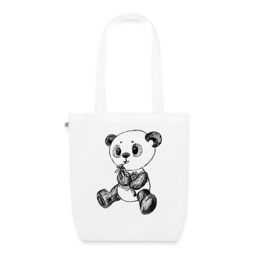 Panda Karhu musta scribblesirii - Luomu-kangaskassi