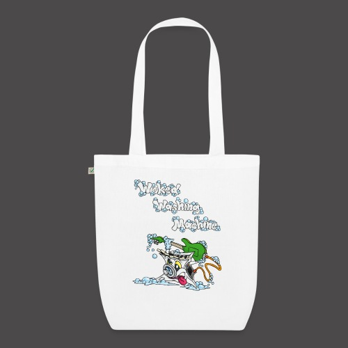 Wicked Washing Machine Cartoon and Logo - Bio stoffen tas