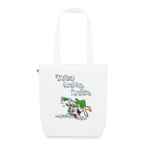 Wicked Washing Machine Cartoon and Logo - Bio stoffen tas