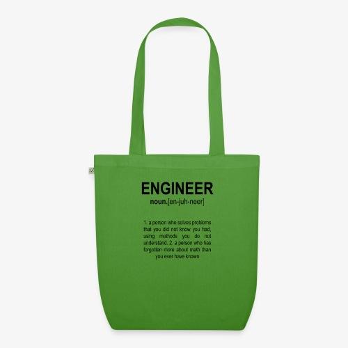 Engineer Def. 2 Black - Sac en tissu biologique