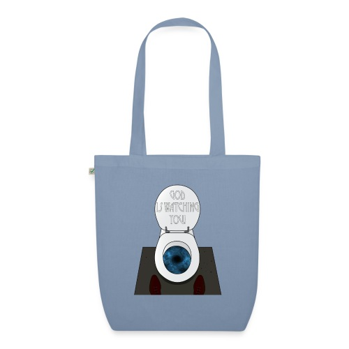 God is watching you! - Borsa ecologica in tessuto