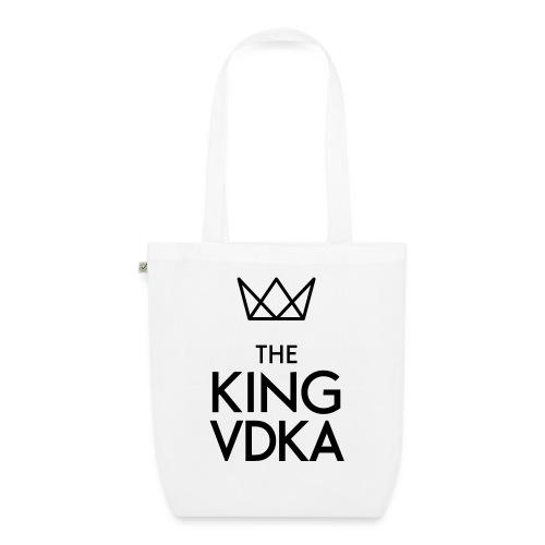 The King VDKA Logo schwarz RGB - Bio-Stoffbeutel