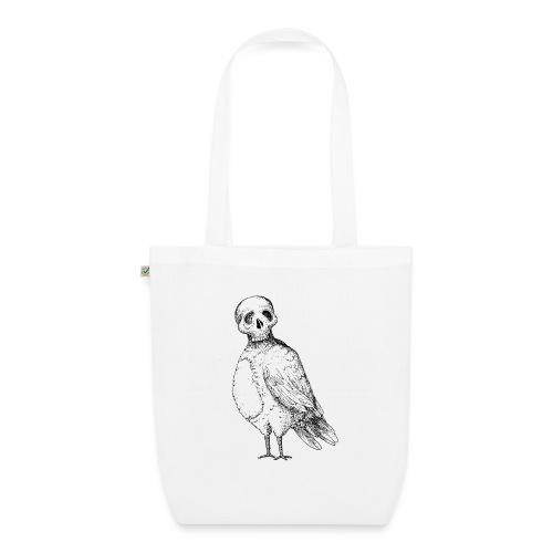 skull bird White alpha - Sac en tissu biologique