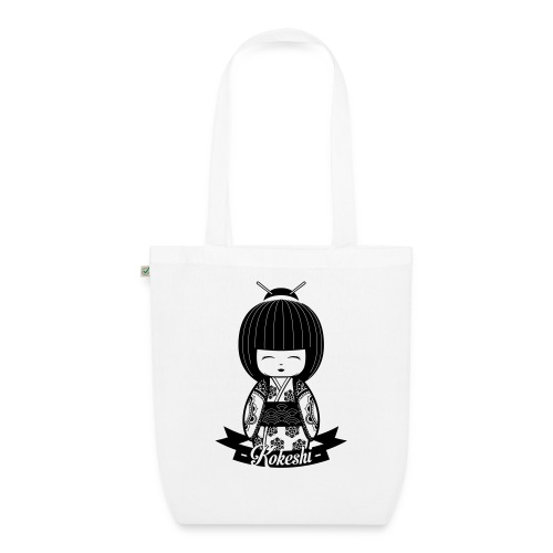 Kokeshi Black - Bio-Stoffbeutel