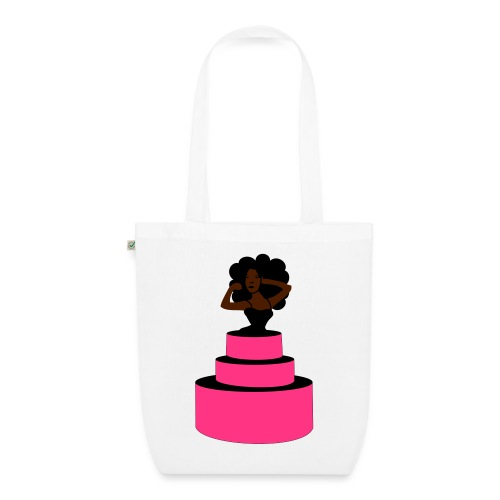 Woman Jumping Out From Cake - EarthPositive Tote Bag