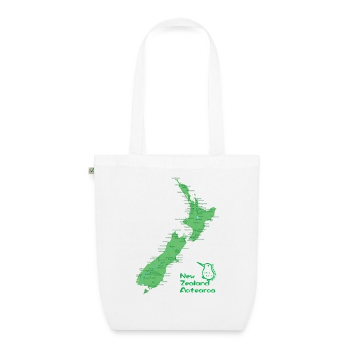 New Zealand's Map - EarthPositive Tote Bag
