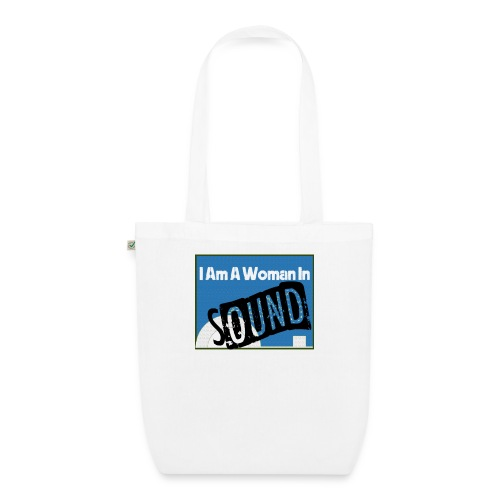 woman in sound - blue - EarthPositive Tote Bag