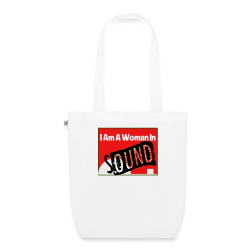 I am a woman in sound - red - EarthPositive Tote Bag