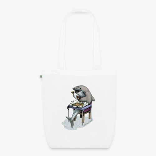 Shark's Fish and Chip dinner - EarthPositive Tote Bag