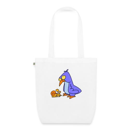 Schnecke und Vogel Nr 2 von dodocomics - Bio-Stoffbeutel