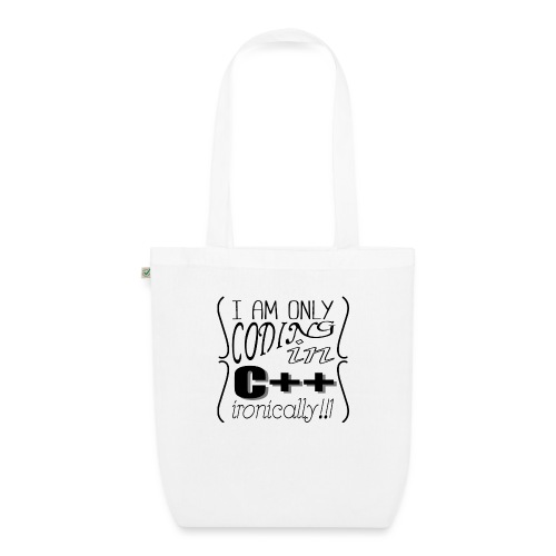 I am only coding in C++ ironically!!1 - EarthPositive Tote Bag