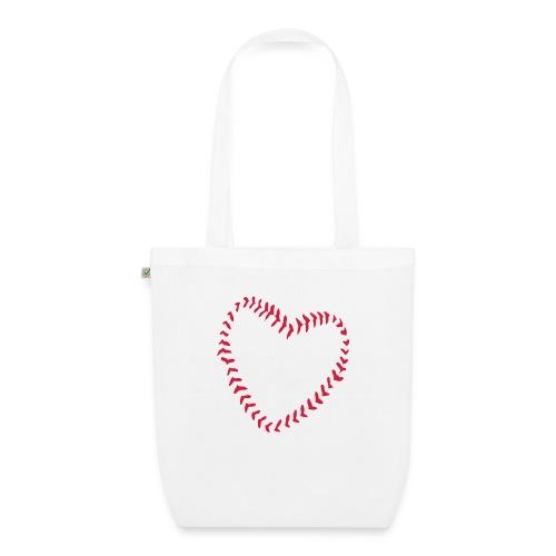 2581172 1029128891 Baseball Heart Of Seams - EarthPositive Tote Bag