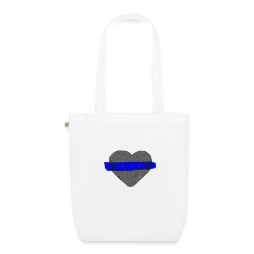 serduszko blu - Ekologiczna torba materiałowa