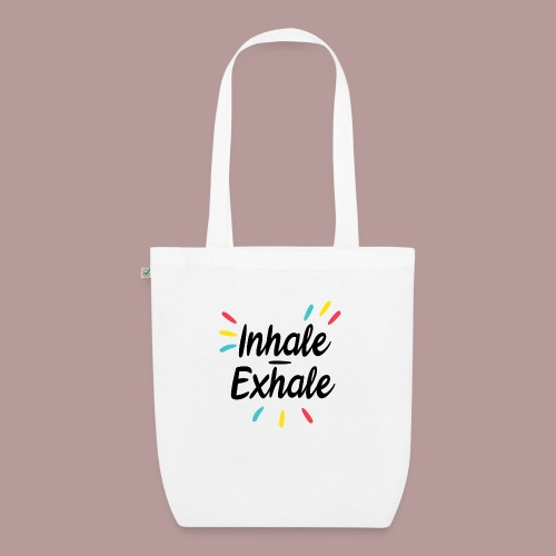 Inhale exhale yoga namaste - Sac en tissu biologique