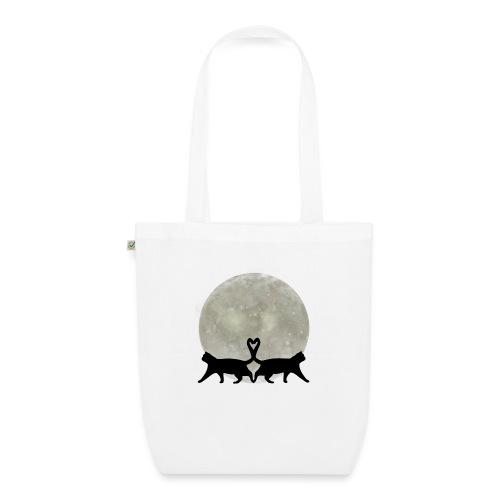 Cats in the moonlight - Bio stoffen tas