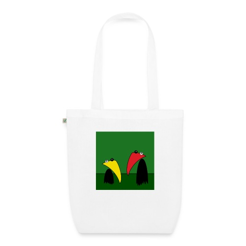 Raving Ravens - in the jungle - EarthPositive Tote Bag