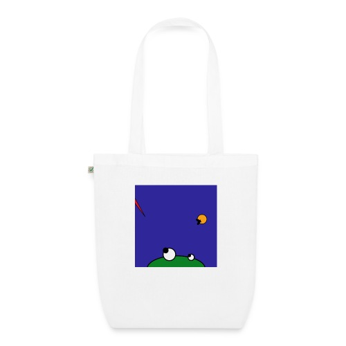 Hungry Frog - stork attack - EarthPositive Tote Bag