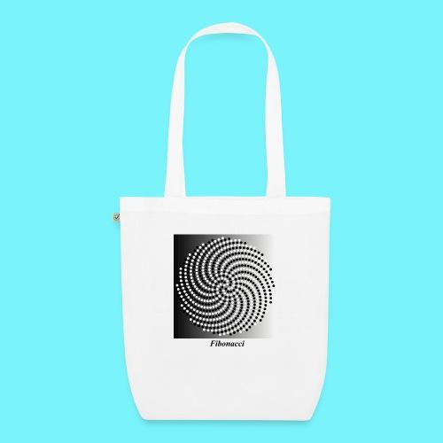 Fibonacci spiral pattern in black and white - EarthPositive Tote Bag