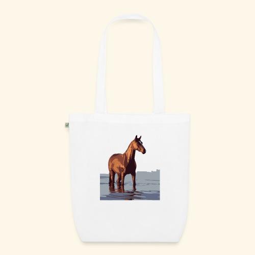 pferd im wasser - Bio-Stoffbeutel