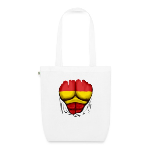 España Flag Ripped Muscles six pack chest t-shirt - EarthPositive Tote Bag