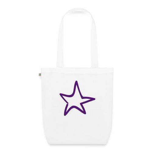 Star Outline Pixellamb - Bio-Stoffbeutel