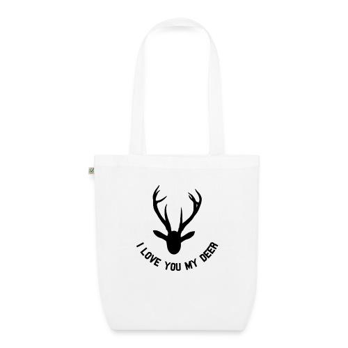i love you my deer - Bio-stoffveske