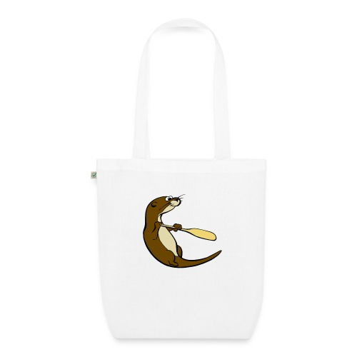 Classic Song of the Paddle otter logo - EarthPositive Tote Bag