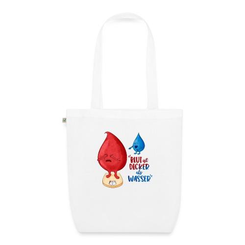 Blut ist dicker als Wasser lustig - Bio-Stoffbeutel