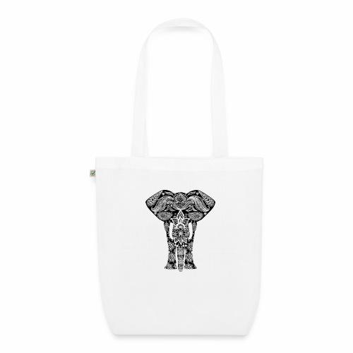 Ażurowy słoń - Ekologiczna torba materiałowa