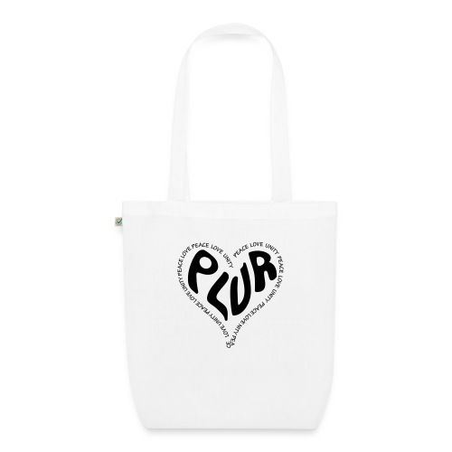 PLUR Peace Love Unity & Respect ravers mantra in a - EarthPositive Tote Bag