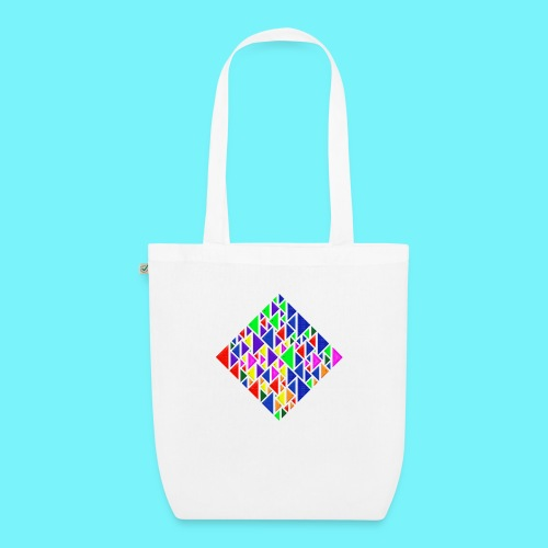 A square school of triangular coloured fish - EarthPositive Tote Bag