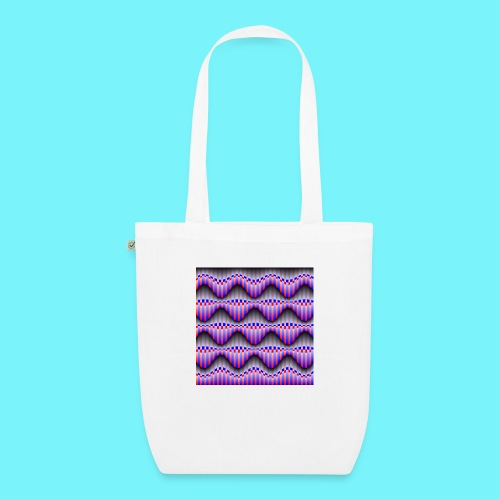 Sine waves in red and blue - EarthPositive Tote Bag