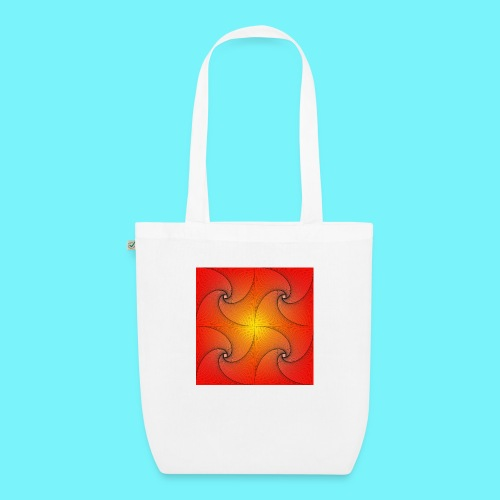 Pursuit curve in red and yellow - EarthPositive Tote Bag