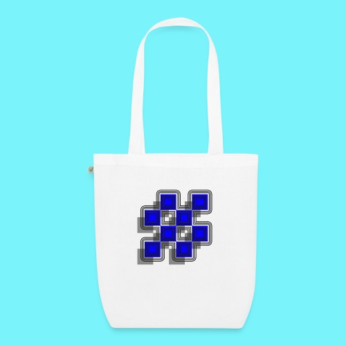 Blue Blocks with shadows and perimeters - EarthPositive Tote Bag