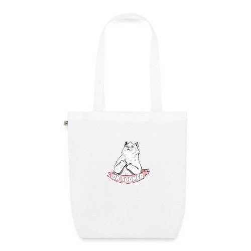 OK Boomer Cat Meme - EarthPositive Tote Bag