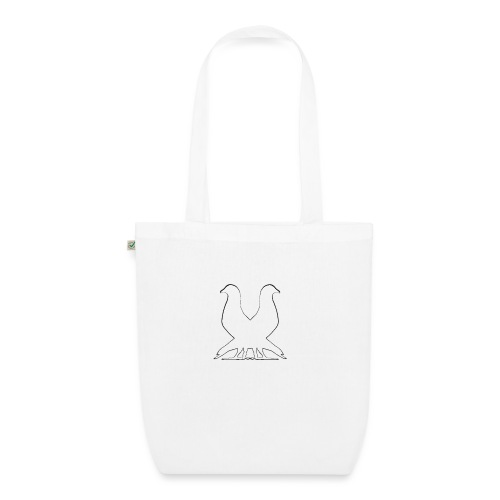 2pigeonswhite png - EarthPositive Tote Bag