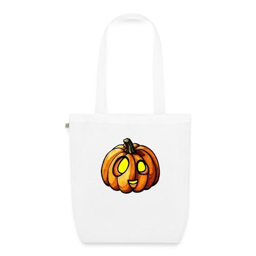Pumpkin Halloween watercolor scribblesirii - Bio-Stoffbeutel
