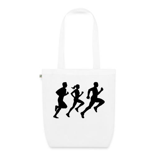 runner group Läufer Gruppe Team - Bio-Stoffbeutel