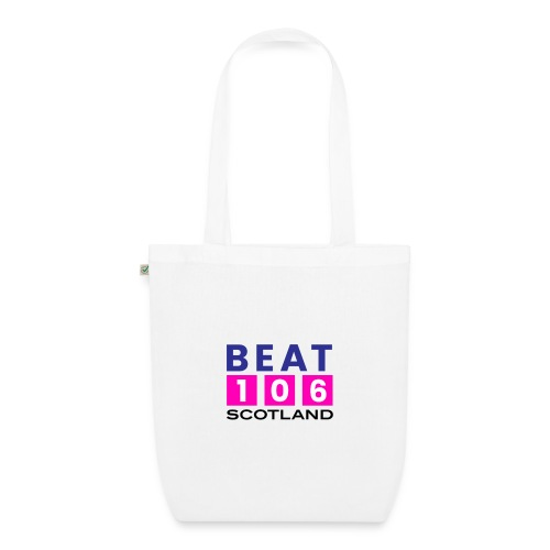 BEAT 106 SCOTLAND PINK DESIGN (LARGER LOGO) - EarthPositive Tote Bag