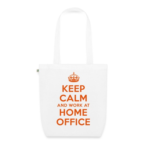KEEP CALM and work at HOME OFFICE - Bio-Stoffbeutel