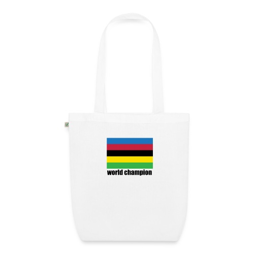 world champion cycling stripes - Bio stoffen tas