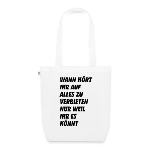 wanhoertihrauf - Bio-Stoffbeutel