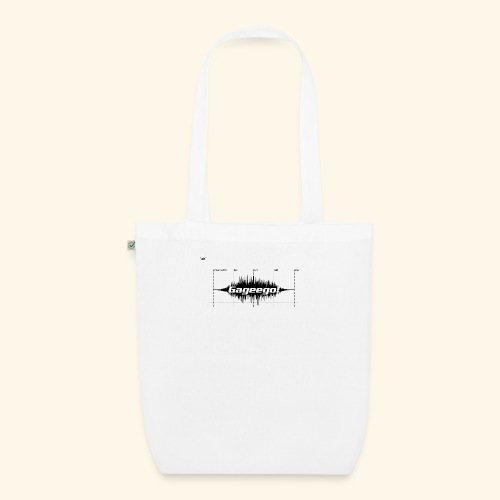 Gageego logga vit text - Ekologisk tygväska