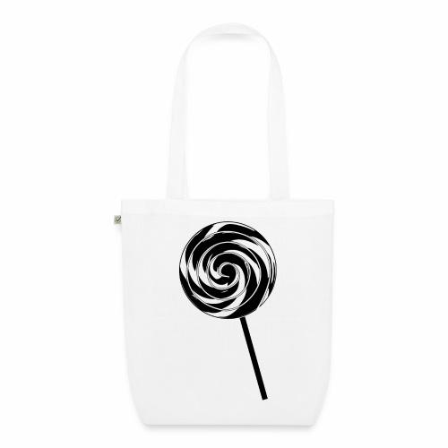 Retro Lutscher - Lollipop Design - Schwarz Weiß - Bio-Stoffbeutel