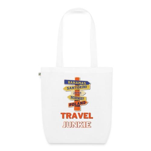 traveljunkie - i like to travel - Bio-Stoffbeutel