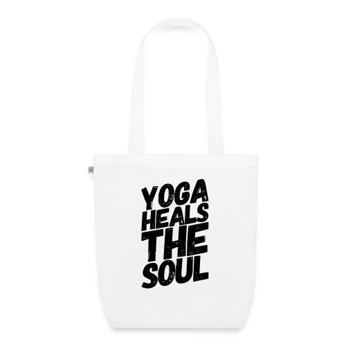 yoga heals the soul - Bio stoffen tas