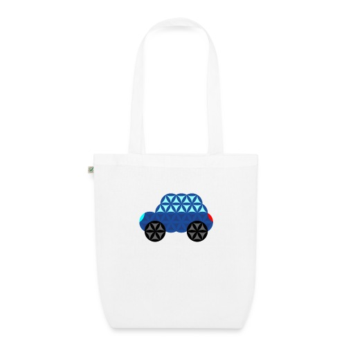 The Car Of Life - M02, Sacred Shapes, Blue/286 - EarthPositive Tote Bag