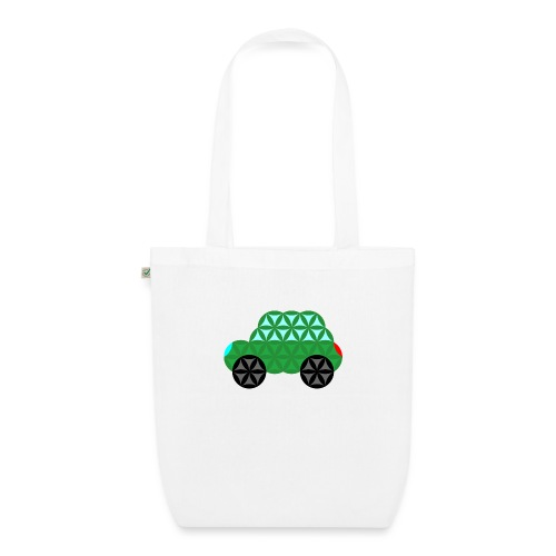 The Car Of Life - M02, Sacred Shapes, Green/363 - EarthPositive Tote Bag
